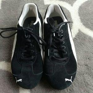9cb6873280d8 Puma Shoes - Puma Repli Cat III Suede Black   White Women s 7.5